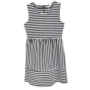 Monteau black & white stripe sleeveless dress 335